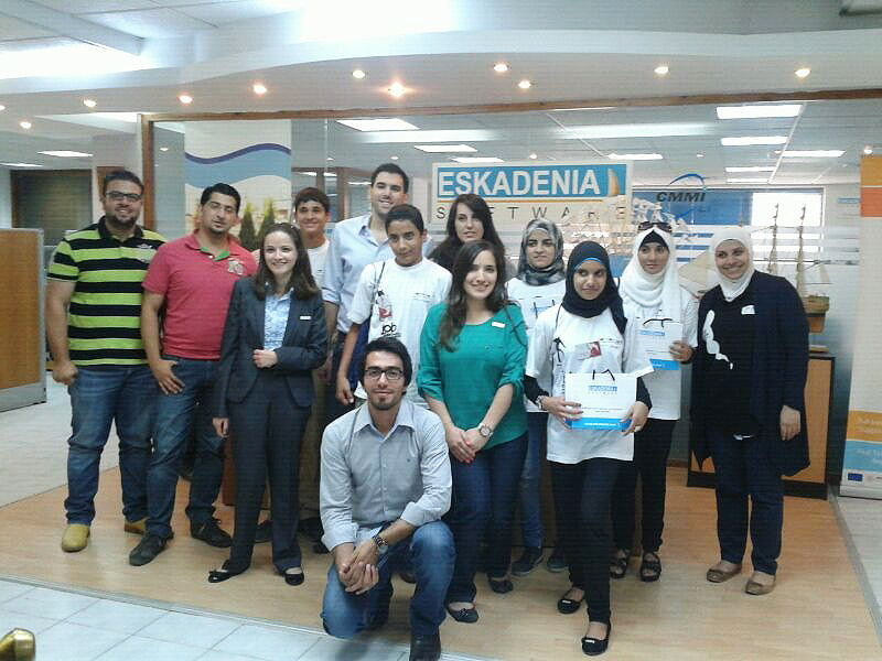 "ESKADENIA Software participates in ""Job Shadowing Program"" by INJAZ"